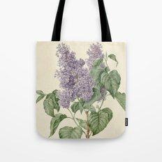 Lilac Botanical Print Tote Bag