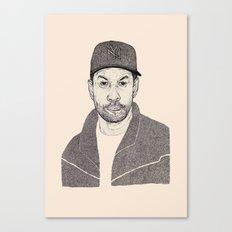 Denzel Washington Portrait Canvas Print