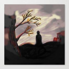 Dark Forest Scene Canvas Print