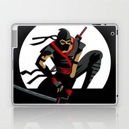 ninja warrior and full moon Laptop & iPad Skin