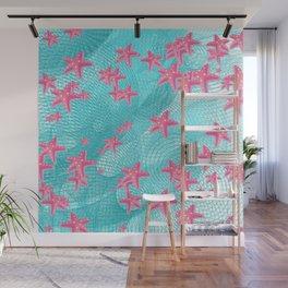 Pink starfish Wall Mural