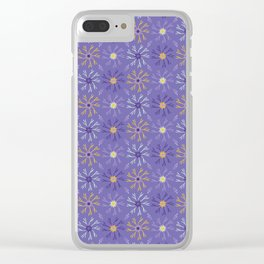 Flower Bloom Petals Vector Pattern Clear iPhone Case