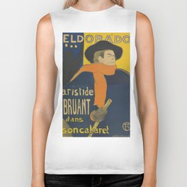 "Henri de Toulouse-Lautrec ""Eldorado: Aristide Bruant"" Biker Tank"