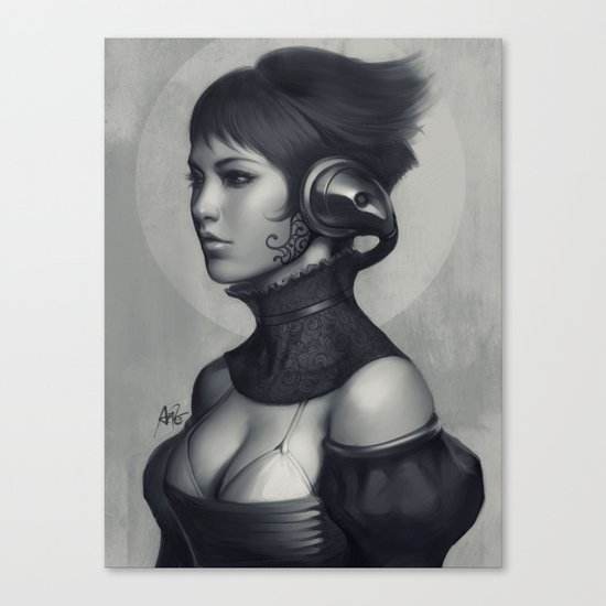 Pepper Grayscale II Canvas Print