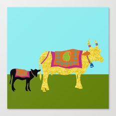 Streets of India- Cows Canvas Print