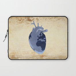 The earth is our heart - EARTH DAY '16 - all artist profits to be donated Laptop Sleeve