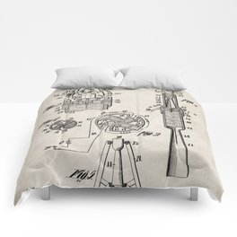 Rocket Ship Patent - Nasa Rocketship Art - Antique Comforters