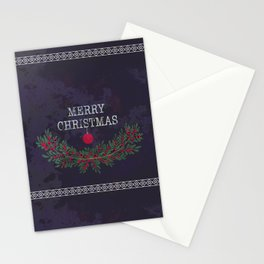 Merry Christmas and Happy New Year Stationery Cards