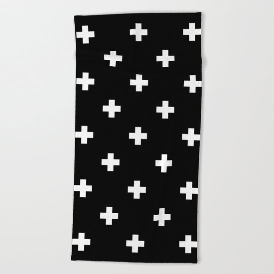 Swiss cross pattern Beach Towel