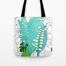 Green geometric Tote Bag