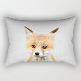 Baby Fox - Colorful Rectangular Pillow