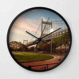 Robert F kennedy Bridge in Astoria Wall Clock