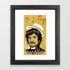 Gold Lion Framed Art Print