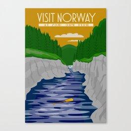 Visit Norway 1 Canvas Print
