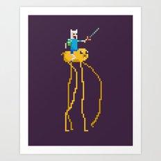 Pixel Time Art Print
