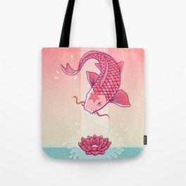 Perseverance // Koi & Lotus Tote Bag