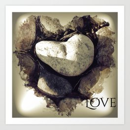 Our Love Is Carved in Stone Art Print