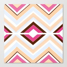 Mod stripes in raspberry Canvas Print