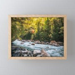 Beautiful Sun Light over Cleddan River, New Zealand Framed Mini Art Print