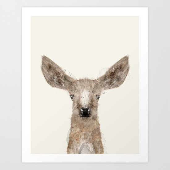 little deer fawn Art Print