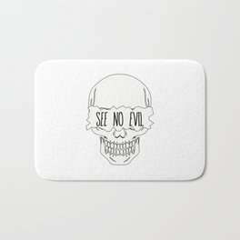 See No Evil Bath Mat