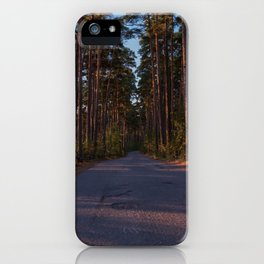 Pine Forest Road iPhone Case