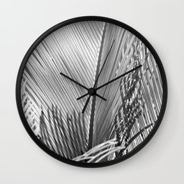 Palms Monochrome Wall Clock