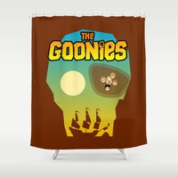 goonies Shower Curtains featuring The Goonies by tuditees