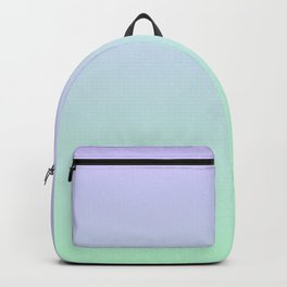 Mint Green and Lavender Ombre - Flipped Backpack