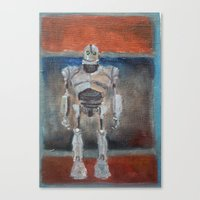 iron giant Canvas Prints featuring Iron Giant and Rothko by Renee Bolinger