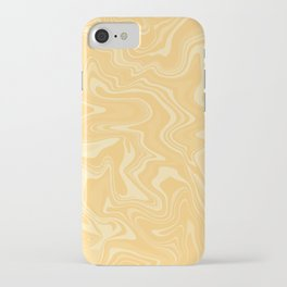 Yellow Liquid Marble iPhone Case