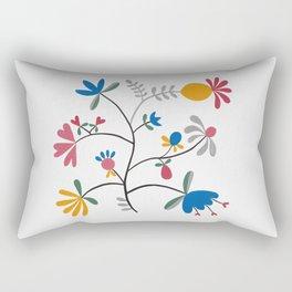 Kurbits – Flower – Blue Bell – Scandinavian Folk Art Rectangular Pillow