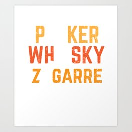 Poker Player Whisky Zigarre Cigar Smoker Gift Art Print