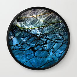 Blue Labradorite Crystal Wall Clock