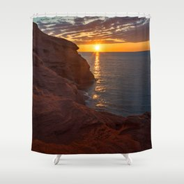 Seacow Head Sunset Shower Curtain