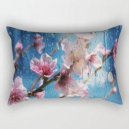 flower almond flora nature Rectangular Pillow