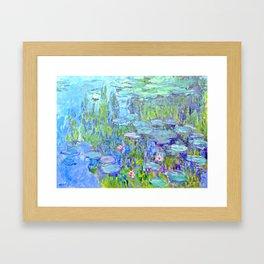 Water Lilies monet : Nympheas Framed Art Print