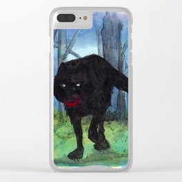 The Big Bad Wolf Clear iPhone Case