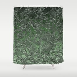 Grunge Relief Floral Abstract G167 Shower Curtain