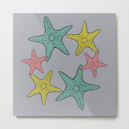 Starfish gray background Metal Print