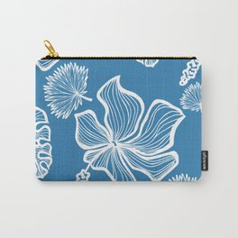 Blue Tropicana Carry-All Pouch