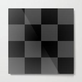 Black 2 Tone Pattern Metal Print