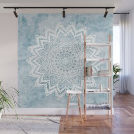 LIGHT BLUE MANDALA SAVANAH Wall Mural