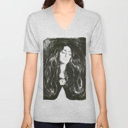 Edvard Munch - The Brooch. Eva Mudocci Unisex V-Neck