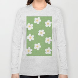 Retro 60's Flower Power Print Long Sleeve T-shirt