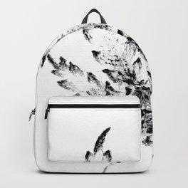 Black & White (Cannabis Resin Leaf) Backpack