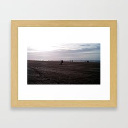 Wind in his sails Framed Art Print