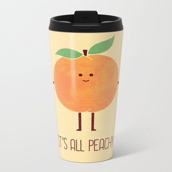 All Peachy Metal Travel Mug