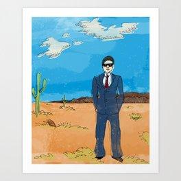 Desert Ted Art Print