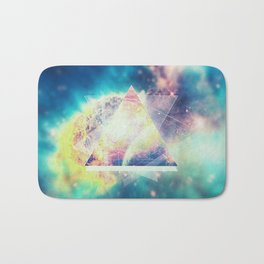 Awsome collosal deep space triangle art sign Bath Mat